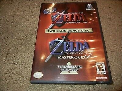 ***zelda Ocarina Of Time Master Quest Nintendo Gamecube Game W/ Case***