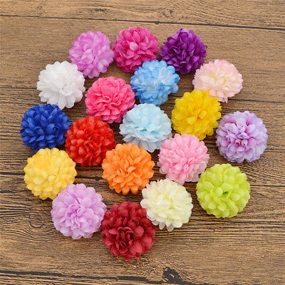 20/100 PCS Artificial Daisy Fake Flower Silk Spherical Heads Party Wedding Decor