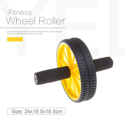 New Come Yellow AB Abdominal Waist Exercise Workout Home Gym Wheels Roller