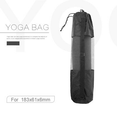 Black Yoga Mat Carry Bag Mesh Center portable Strap Nylon Carrier for 6mm mat