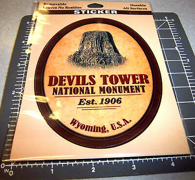 Devils Tower Wyoming National Monument sticker / decal, durable, all surfaces