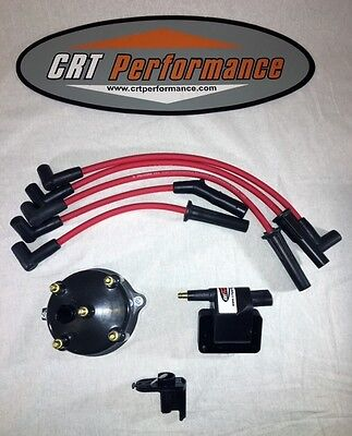 JEEP YJ XJ 2.5L 4CYL IGNITION TUNE UP UPGRADE KIT RED Wrangler Cherokee 91 92 93