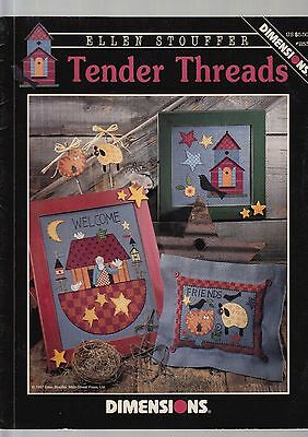 Tender Threads - Cross stitch chart by Dimensions, 3 designs - from my stash