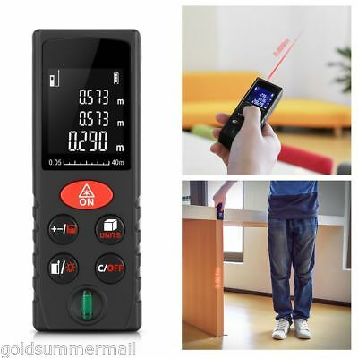 40m Digital Laser Distance Meter Range Finder Measure Handheld Diastimeter