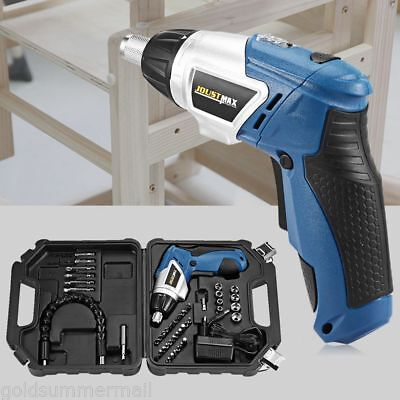 45in1 Power Tool 180° Rechargeable Cordless Electric Screwdriver Drill Kit Suit