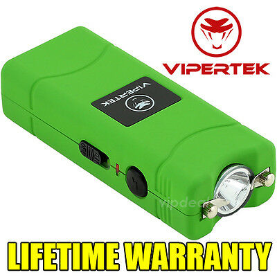VIPERTEK VTS-881 15 BV Rechargeable Micro Mini Stun Gun LED Flashlight - Green