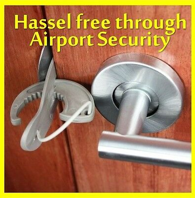 Travel Lock - Portable door lock for ekstra safety, security and privacy