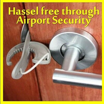 Travel Lock - ekstra Safety, Security and Privacy - a portable door lock