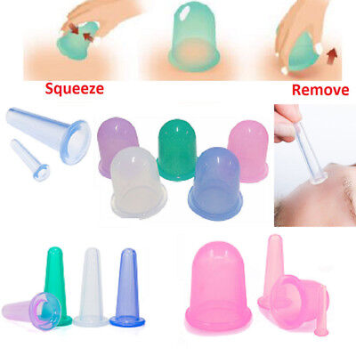 Practical Silicone Massage Vacuum Body Facial Cups Anti Cellulite Cupping Cup