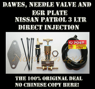 Dawes Valve, Needle valve & EGR plate Nissan GU Patrol ZD30 Direct Injection