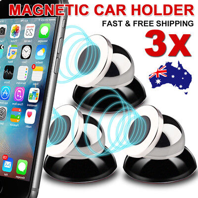 3X Universal Magnetic Ball Magnet Car Holder Mount GPS iPhone 8 X 7 6 Samsung