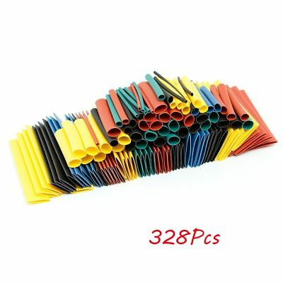 328PCS Heat Shrink Tubing Wire Wrap Assortment Electrical Connection tube