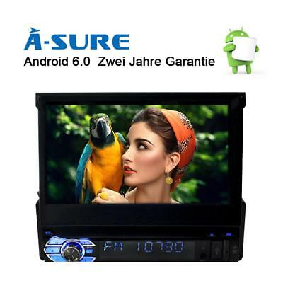"1 Din Android 6.0 Autoradio Navi GPS 7"" Player Touchscreen BT MP3 WIFI SWC SD"