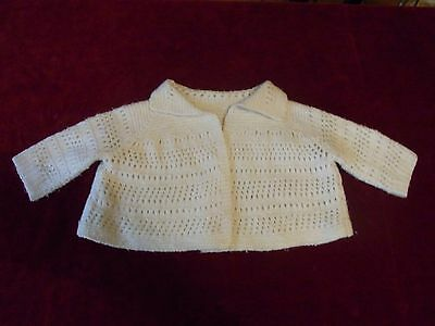 JACKET SPORT BRA BABY Little knitting T6-9m VINTAGE 60 KNITTED s6-9m