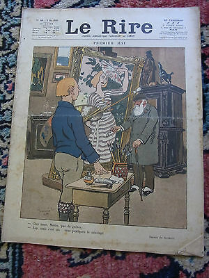LAUGHTER No.18 3 may 1919 JEANNIOT COVER & NOB Old french lampoon paper