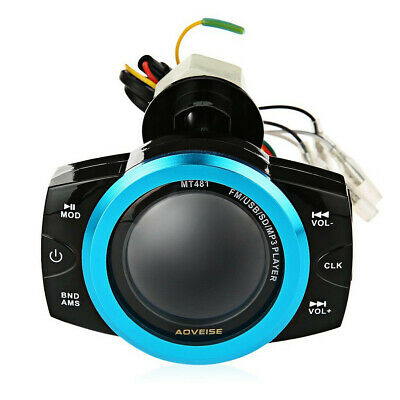 Motorcycle Anti-theft Audio System Stereo FM/TF/USB/SD/MP3 Waterproof