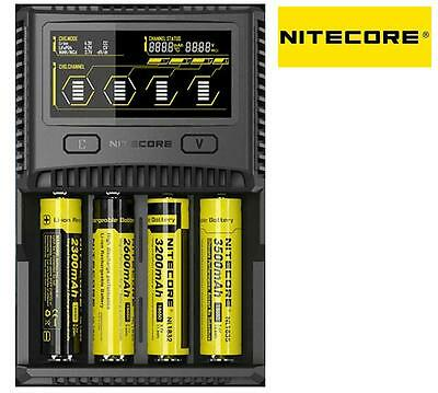 New Nitecore SC4 SuperB LCD battery charger ( AA / AAA / C / D / 18650 / 26650 )