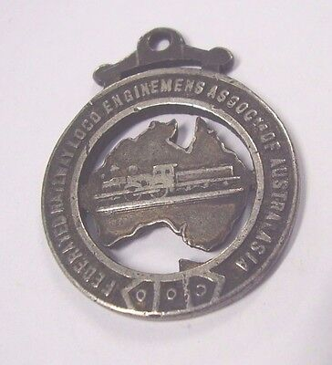 WW1 Era Silver Union Medal Badge South Australia Railway Loco Enginemens Assoc.