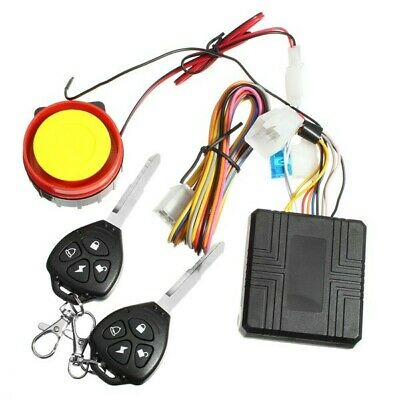 12V Motorcycle Anti-theft Alarm System Vibration Remote Control Security