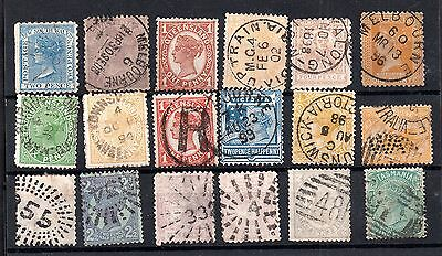 Australian States QV collection and some good Postmarks WS5469