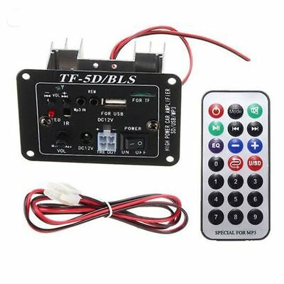 12VAudio Subwoofer MP3 Decoder Board Amplifier With Bluetooth Function USB Remot