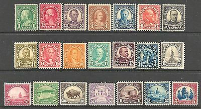 UNITED STATES 1922-32 Complete set of 23 - 97467