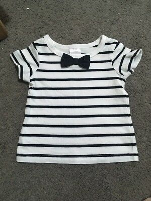 Baby Boys Short Sleeve Striped Top Size 000 EUC