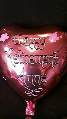Glitter Personalised Helium Foil Balloon