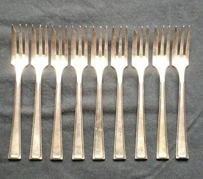 antique silver plated cake forks in original box