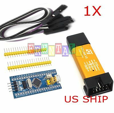 STM32F103C8T6 ARM STM32 Dev Development Board Module Blue Pill w/ ST-Link V2 USA