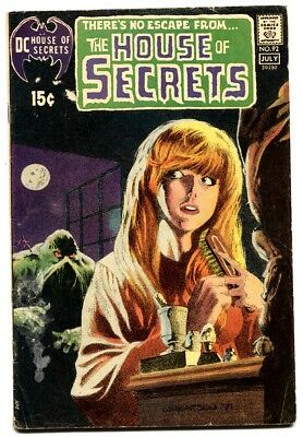 HOUSE OF SECRETS #92 First appearance of Swamp Thing DC 1971 comic book vg