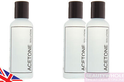 Rio Acetone Solution Removal of Nail Polish UV Gel or Acrylics 100ml or 200ml