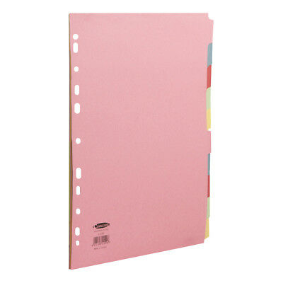Concord Commercial Subject Dividers Extra Wide 10-Part A4 Assorted