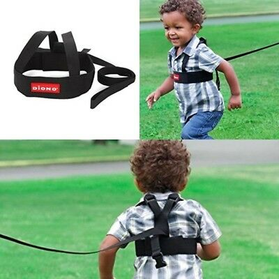 Safety Harness Belt Leash for Baby Toddler Kids Extra Walking Secure Steps Black