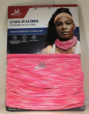 "Mission EnduraCool 10"" x 10"" Cooling System Wrap Sz OS - Neon Pink Blur"