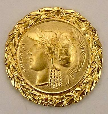 Roman King 24Kt Gold Plaque Furniture Hardware For Interior Design Metalware