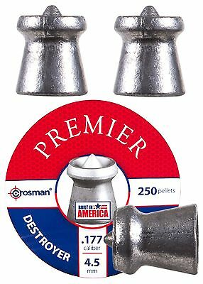 Crosman Destroyer .177 Cal, 7.4 Grains, Pointed, 250 count # DS177 *  New!