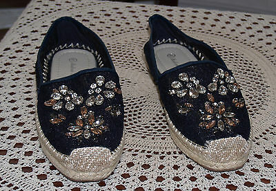 Modern Sally plimsoles size EU41 UK 8 Black with sparkles on front