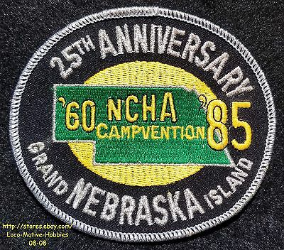 LMH Patch Badge 1985 NCHA FCRV Campers Hikers CAMPVENTION Campout Grand Island