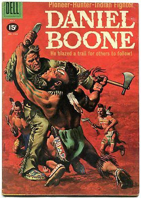 Daniel Boone- Four Color #1163 1961- Dell Western- 15 cent cover FN