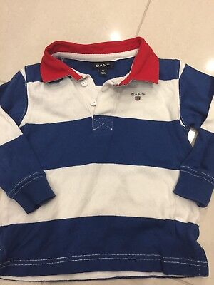 Boys GANT Rugby Shirt Excellent Condition Age 18 Months 86cm