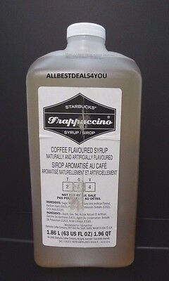 Starbucks Frappuccino COFFEE  Flavoured Syrup 1.86L/ 63 Fl Oz Best Before 09/17
