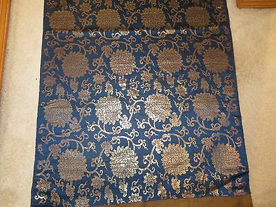 Very Fine Length of Antique Chinese Brocade - Kinran 10 Feet Long Excellent Old!