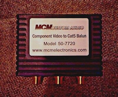 MCM 50-7720 Component Video to CAT 5 Balun (3 piece lot)