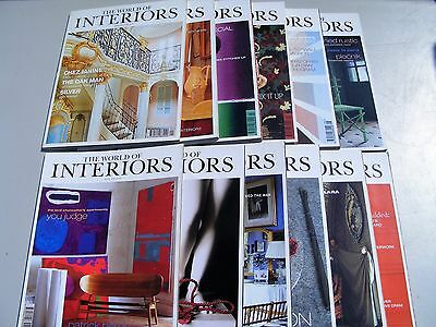 World of Interiors magazines 1998 , All 12 issues.