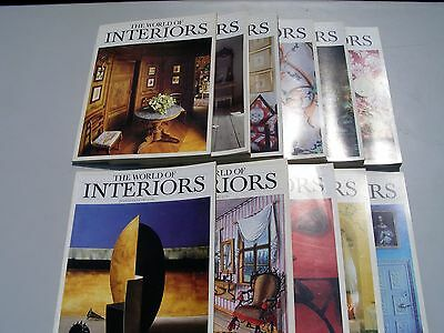 World of Interiors magazines 1987. Full run of 11 copies (July and August combin