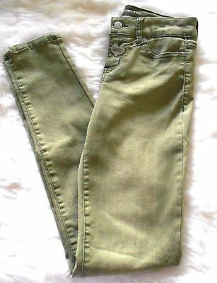 Brand New Celebrity Pink Dare You Skinny Jeans  Green Size 12 Girls NWT