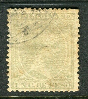 PHILIPPINES;   1890 Baby King Alfonso issue used 1c. value,