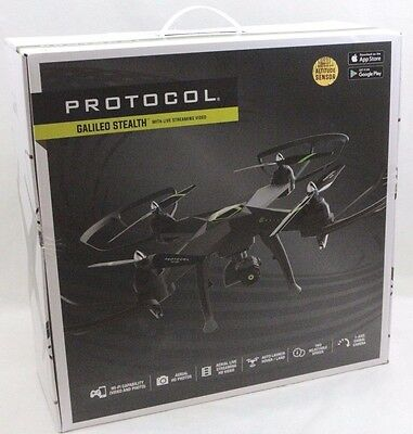 Protocol Galileo Stealth Drone with Live Streaming Video - 6182-7CA - NEW
