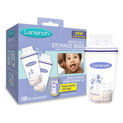 Lansinoh Breastmilk Storage Bags, BPA Free and BPS Free, 100 Count